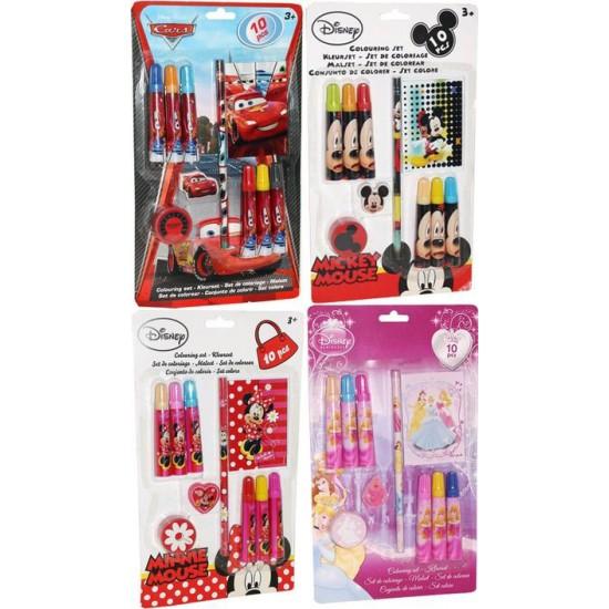 Set de coloriage mickey minnie cars et princesses disney destockage - Coloriage minnie jouet ...
