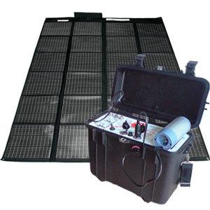 Kit g n rateur solaire portable 220v 12v 200w destockage grossiste - Panneau solaire 220v ...