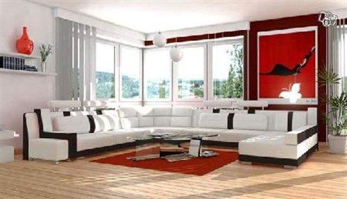 Canap design cuir ou tissu lit en cuir destockage grossiste for Canape angle alcantara