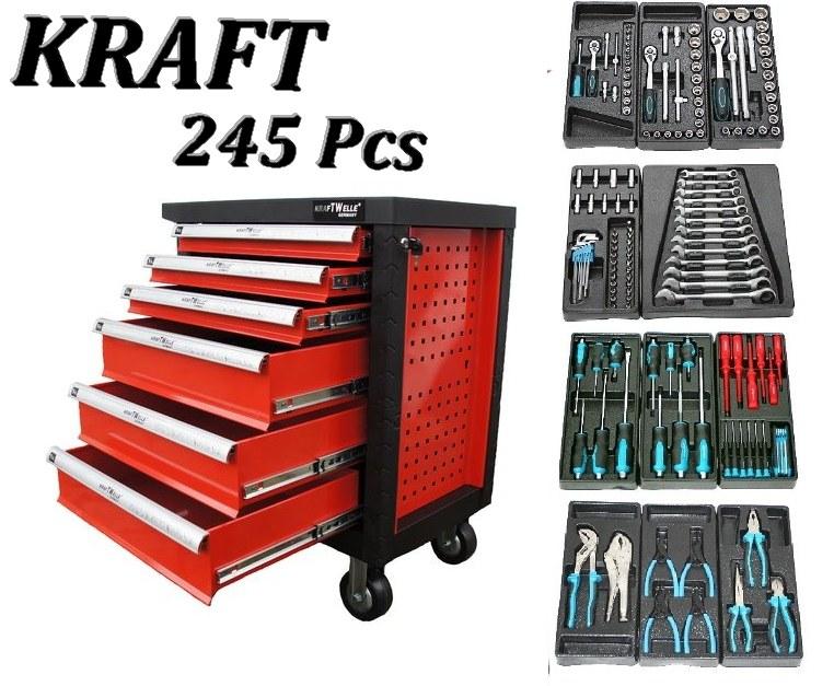 servante d 39 atelier servante outils 245 pcs 6 tiroirs. Black Bedroom Furniture Sets. Home Design Ideas