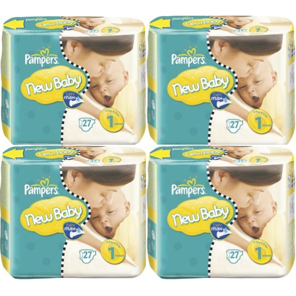 540 couches pampers new baby taille 1 destockage grossiste - Couches pampers new baby taille 3 ...