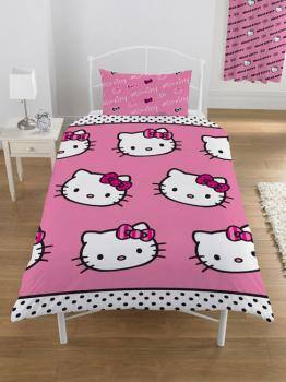 parure housse de couette hello kitty pas cher destockage. Black Bedroom Furniture Sets. Home Design Ideas