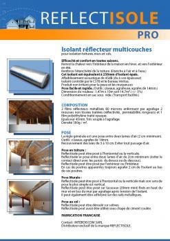 isolant mince reflecteur multicouches reflectisole pro destockage. Black Bedroom Furniture Sets. Home Design Ideas