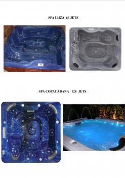 spa jacuzzi 128 jets spa center destockage grossiste. Black Bedroom Furniture Sets. Home Design Ideas