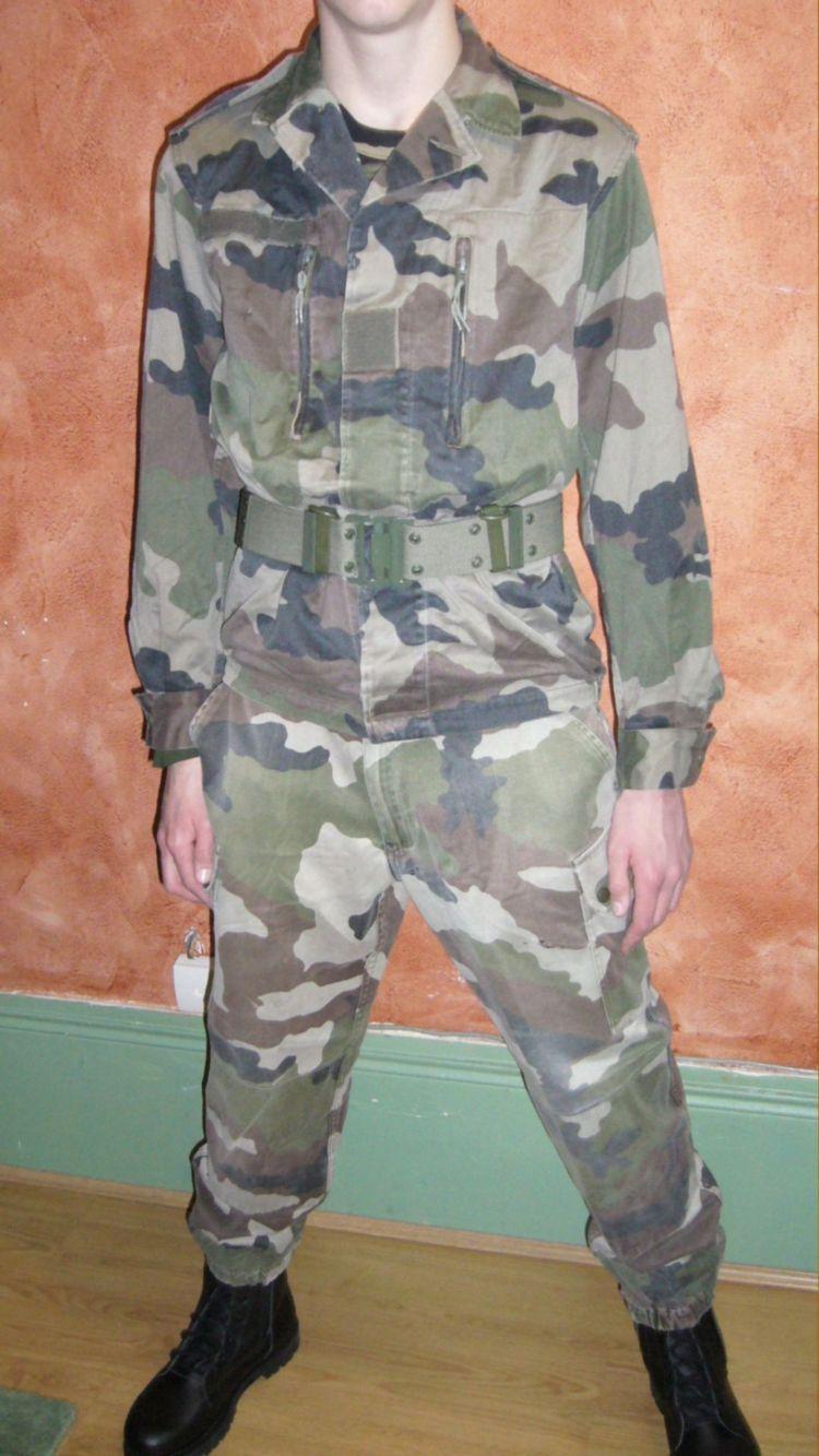Veste de treillis f2 camouflage armee francaise destockage - Treillis militaire occasion ...