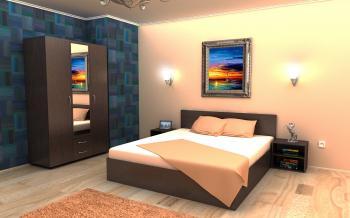 Chambre a coucher complete lina 4pcs destockage grossiste for Acheter chambre complete