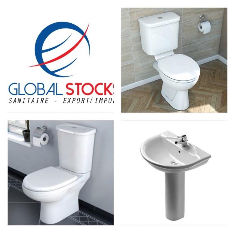 stock toilette lavabo global stocks destockage grossiste. Black Bedroom Furniture Sets. Home Design Ideas
