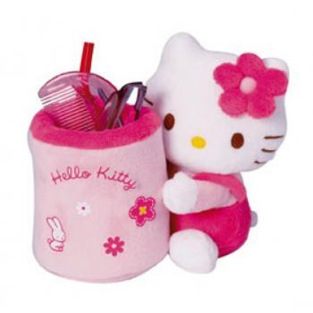 VIDE POCHE HELLO KITTY EN PELUCHE 14 CM