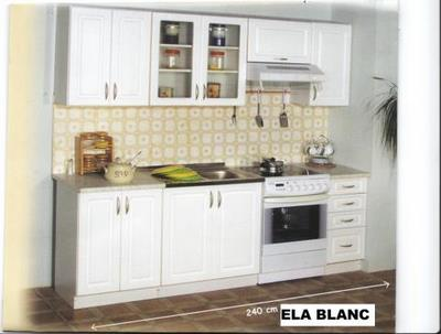 Cuisine ela blanche 2m40 baltic meubles destockage grossiste for Grossiste meuble cuisine