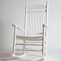 Rocking chair ou chaise bascule blanc en ch ne destockage grossiste - Acheter rocking chair ...