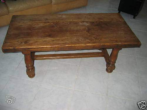 Grande table basse chene massif rustique de la ferme destockage grossiste - Table basse en chene massif ...
