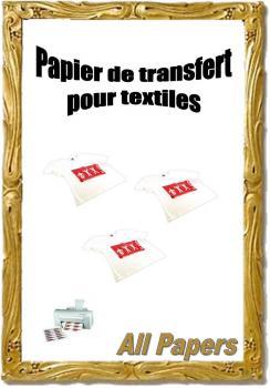 Papier de transfert pour textiles clairs destockage grossiste - Papier transfert pour textile ...
