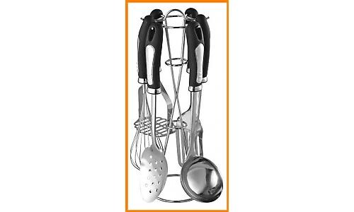 Ustensiles de cuisine 7 pi ces en inox kitchen tools set 7pcs kaiserhoff for Ustensiles de cuisine belgique