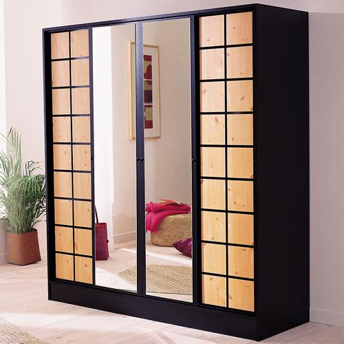 vend lots d 39 armoire 4 porte 2 miroir destockage grossiste. Black Bedroom Furniture Sets. Home Design Ideas