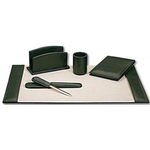 Set de bureau cuir vert surdiscount destockage grossiste for Set de bureau fantaisie