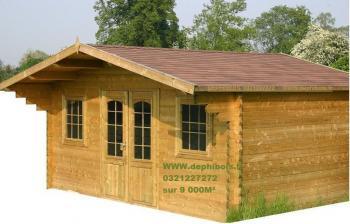 Chalet loisirs 45mm abris de jardin destockage grossiste for Abri jardin destockage