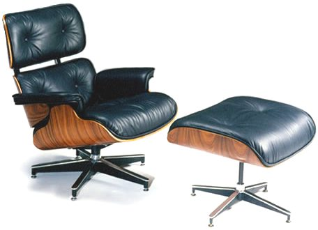 Fauteuil charles eames cuir noir destockage grossiste for Reproduction fauteuil charles eames