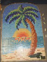 Decoration mural mosaique coucher de soleil grossistes for Coque piscine 5x2