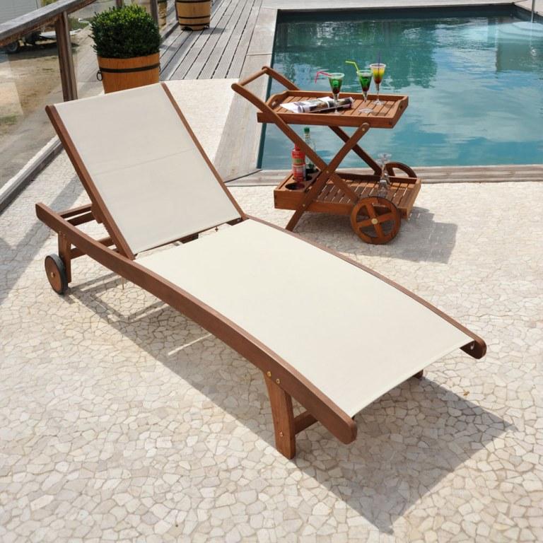 Destockage bains de soleil bois et textilene neuf grossiste - Destockage bain de soleil ...