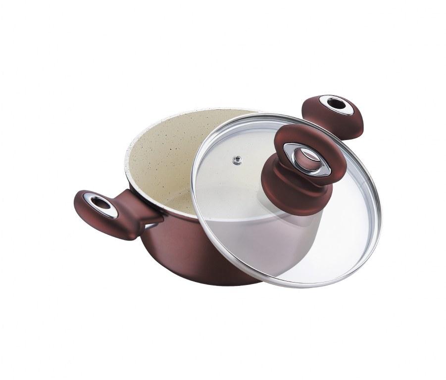Casserole avec couvercle en verre 24 cm blaumann bl 1230 destockage - Couvercle casserole en verre ...