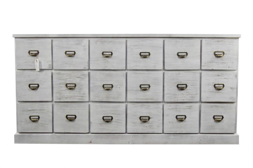 Meuble ceruse grainetier chiffonier 18 tiroirs destockage for Grainetier meuble