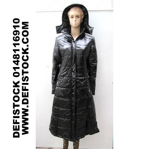 doudoune femme longue ref 5016 9 9 ht destockage grossiste. Black Bedroom Furniture Sets. Home Design Ideas