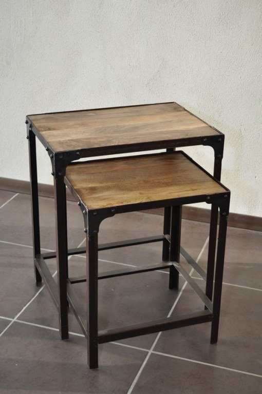 Tables basses gigognes industrielles destockage grossiste - Tables basses industrielles ...