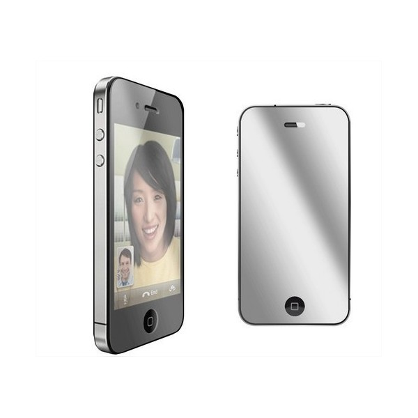Film protection cran miroir iphone 4 4s 5 destockage for Film protecteur effet miroir