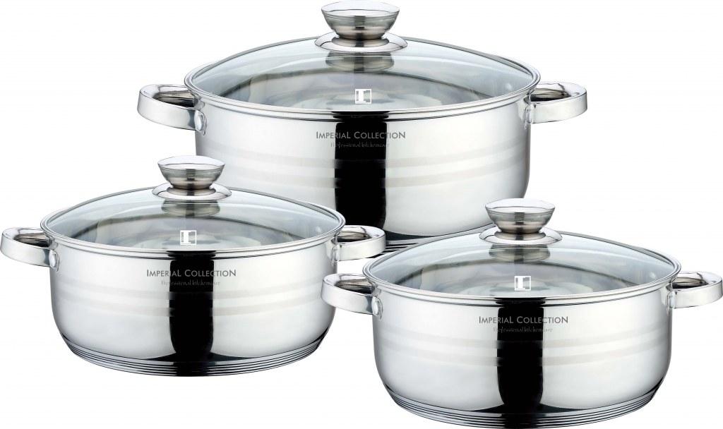 Imperial collection im 6002 batterie de cuisine en inox for Batterie de cuisine inox