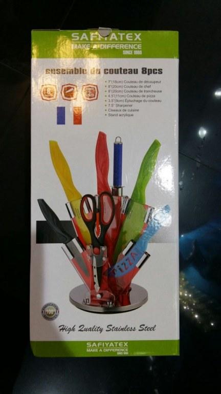 Set de couteaux de cuisine avec support destockage grossiste - Set de couteaux de cuisine ...