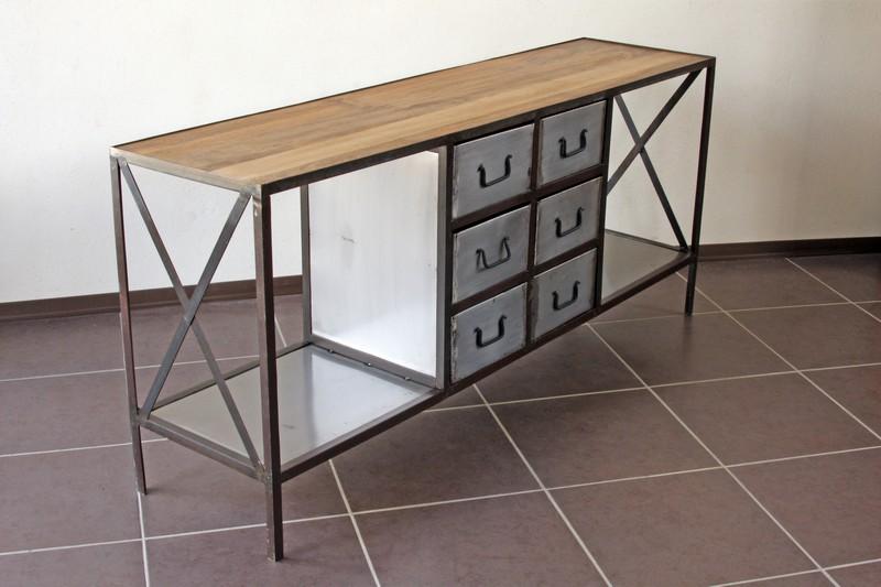 meuble industriel 6 tiroirs d co du diois destockage grossiste. Black Bedroom Furniture Sets. Home Design Ideas