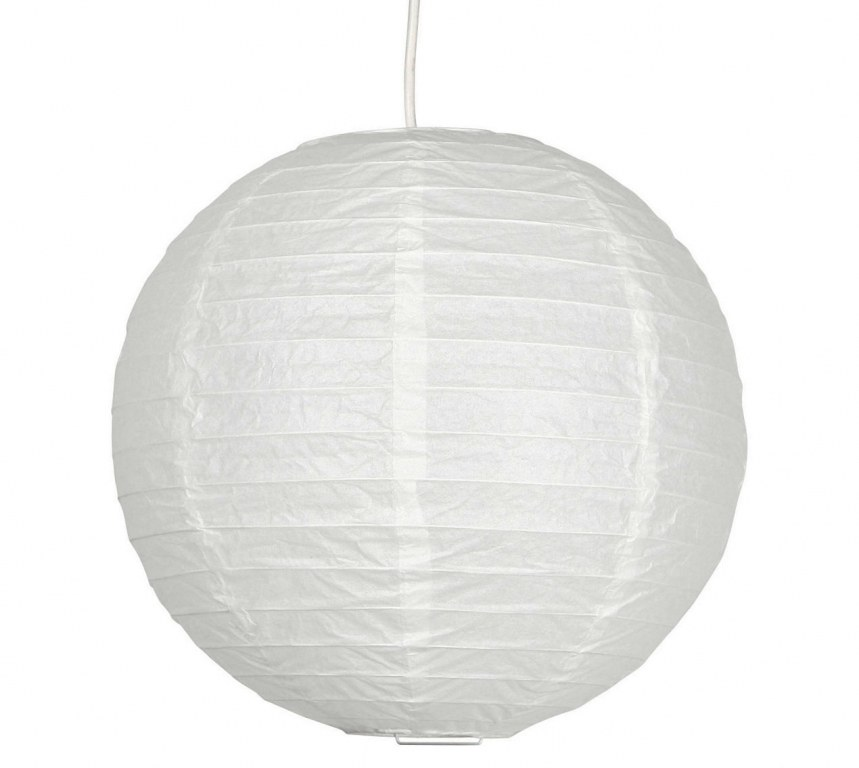 suspension boule japonaise papier de riz 30cm blanche destockage. Black Bedroom Furniture Sets. Home Design Ideas