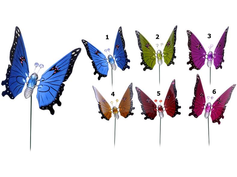 Tuteur papillon pour plantes 63cm coloris assortis destockage grossiste - Plantes pour papillons ...