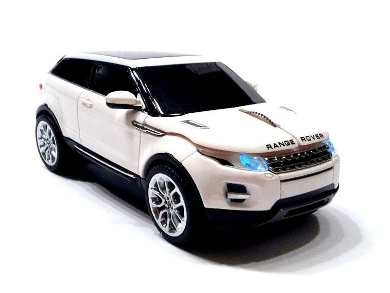 souris filaire range rover evoque blanche 11cm destockage grossiste. Black Bedroom Furniture Sets. Home Design Ideas