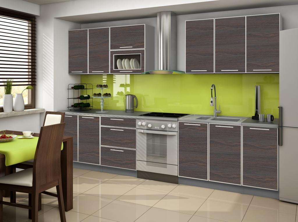 Cuisine complete porta chene doree 2m60 destockage grossiste for Acheter cuisine complete