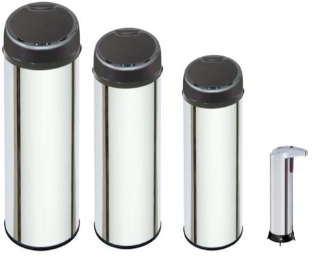lot 3 poubelle automatique distributeur savon destockage grossiste. Black Bedroom Furniture Sets. Home Design Ideas
