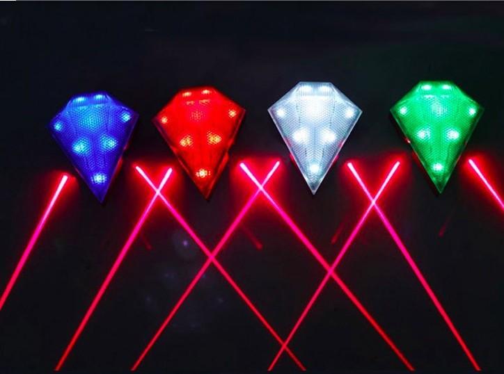phare arri re eclairage 8 led et 2 laser avec batterie lithium rechargeable. Black Bedroom Furniture Sets. Home Design Ideas