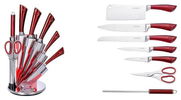 royalty line rl kss804 set de couteaux 8 pi ces destockage grossiste. Black Bedroom Furniture Sets. Home Design Ideas
