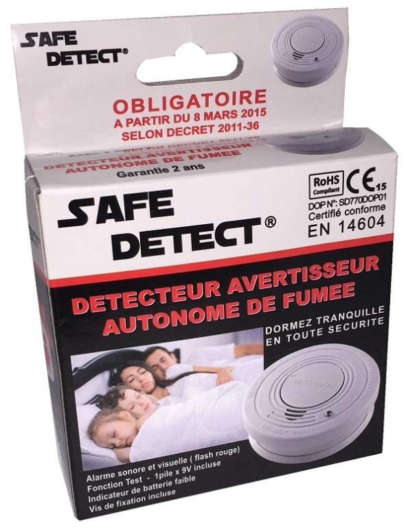 D tecteur avertisseur autonome de fum e daaf destockage grossiste - Detecteur fumee obligatoire ...