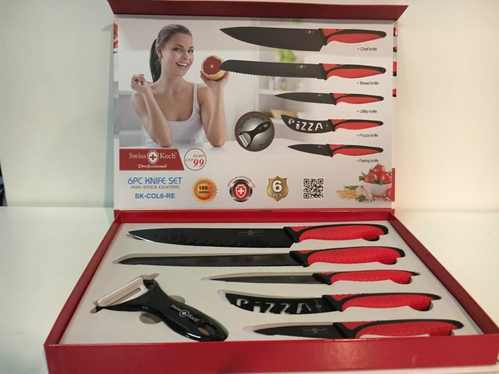 Set couteaux 6 pi ces imex glob destockage grossiste - Set couteaux cuisine ...