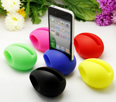 TOP VENTE! - MUSIC Egg haut parleur amplificateur support souple pour iPhone 4 et 4S