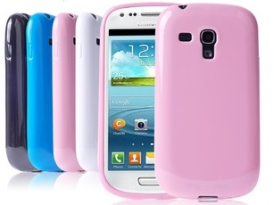 TOP VENTE! - BONBON Brillant Coque souple pour Samsung Galaxy S3 Mini i8190