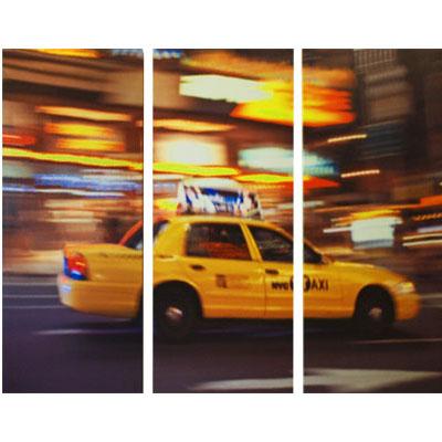 Tableau triptyque d co am ricaine taxi new york usa for Tableau triptyque new york