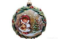 Boules de Noël en verre fabrication artisanal.