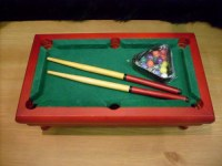 Mini jeu billard avec boules