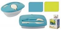 """Boîte hermétique """"Lunchbox"""" avec couverts coloris assortis"""