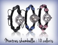 Montre shamballa 10 couleurs direct usine !