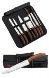 Set de couteaux avec housse de transport 9 pièces Royalty Line