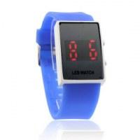 bande en silicone quelques sports rouge de style montre-bracelet a conduit- Bleu clair, bleu fonce