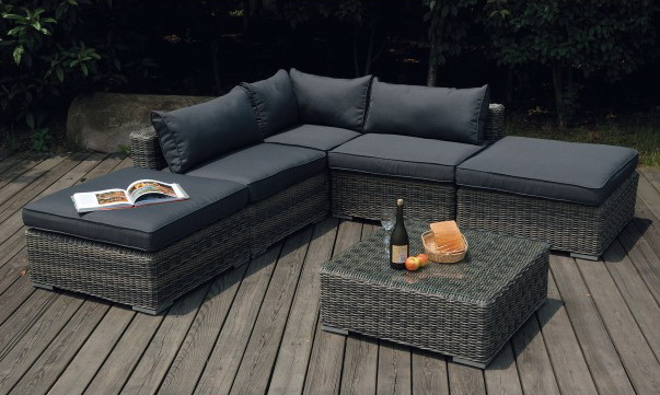 Salon de jardin en wicker destocke asie destockage grossiste - Salon d angle de jardin ...